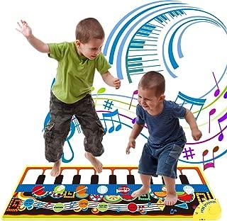 FUGZ Kids Musical Keyboard Electronic - Piano Mat - Music Carpet - Girls Boys Best Gifts Toys.