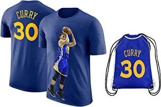 UNK Steph Curry Blue Basketball T-Shirt Jersey Style Kids Youth Sizes Premium Quality Gift Set