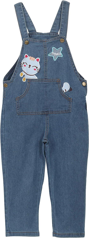 Camilife Beb/é Ni/ño Ni/ñas Pantalones de Peto Vaqueros Pantal/ón Algod/ón Denim Overol Jeans Pantalones con Tirante para Primavera Oto/ño Patrones Gatitos Talla 80//86//92//98//104//110//116//122