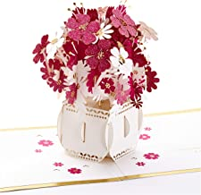 Hallmark Signature Paper Wonder Pop Up Mothers Day Card (Flowers in Vase, Make the World More Beautiful)