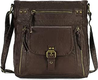 Scarleton Medium Crossbody Shoulder Bag for Women, Ultra Soft Washed Vegan Leather, H2005