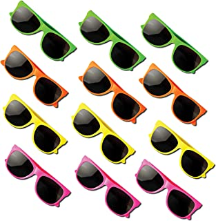 Sponsored Ad - Neliblu Kids Sunglasses Party Favors 80's Style Sun Glasses for Beach and Pool Parties, Carnival Prizes, Pa...