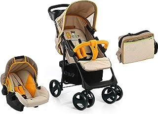جموعة التنقل، عربة اطفال شوبر اس ال اكس مع حقيبة للام من هآك، من الولادة وحتى 25 كغم - برسمة دب