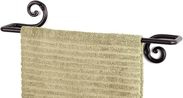 装饰铁艺毛巾架浴巾架厨房浴室壁挂洗碗巾杆衣架手工制作 RTZEN D Cor Rot 金属易安装