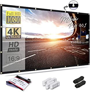 Mdbebbron 120 inch Projection Screen 16:9 HD Foldable Anti-Crease Portable Projector Movies Screen for Home Theater Outdoo...