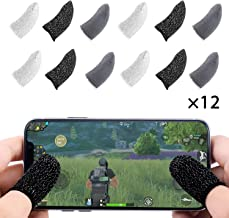 Finyosee Mobile PUBG Game Controller Finger Sleeve, Full Touch Screen Sensitive Anti-Sweat Breathable Shoot Aim Joysticks Finger Set for Android & iOS(Pack of 12)
