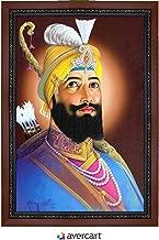 Avercart Guru Govind Singh Ji - Tenth Guru of Sikh Poster 12x18 inch Framed (with Frame Size: 14x20 inch)