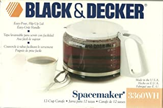 BLACK & DECKER SPACEMAKER 3360 WH REPLACEMENT CARAFE 12 CUP