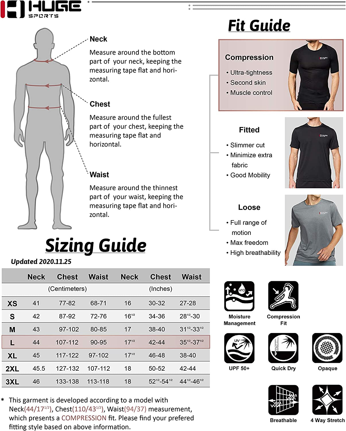 HUGE SPORTS Men's Thermal Base Layer Top for Winter Moisture Wicking Athletic Shirts for Skiing Running Workout