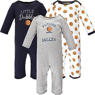 Hudson Baby Kombinezon dziecięcy Uniseks - niemowlęta Hudson Baby Unisex Baby Cotton Coveralls, Basketball