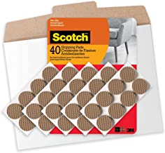 Scotch, GP939-40NA, 1 Inch Gripping Pads in Easy to Open Packaging, 40 Pads, Brown