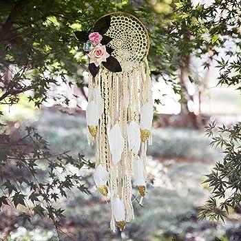 Indian Handmade Dream Catcher Feather Wall Car Hanging Decor Ornament Craft S/&K