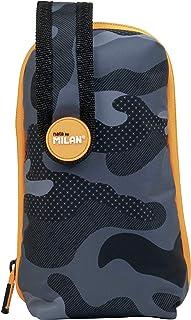 Set 1 etui met inhoud zwart camouflage, zwart en oranje.