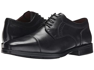 Johnston & Murphy Waterproof XC4 Branning Cap Dress Cap Toe Oxford (Black Waterproof Calfskin) Men