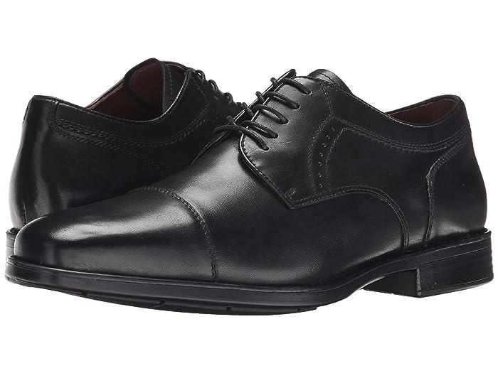 Johnston and Murphy  Waterproof XC4 Branning Cap Dress Cap Toe Oxford (Black Waterproof Calfskin) Mens Lace Up Cap Toe Shoes