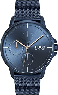 Hugo Boss Men'S Blue Dial Ionic Plated Dark Blue Steel Watch - 1530126