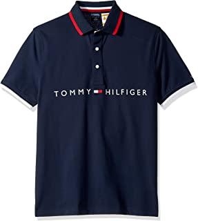 Tommy Hilfiger Men's Polo Shirt with Magnetic Buttons Custom Fit
