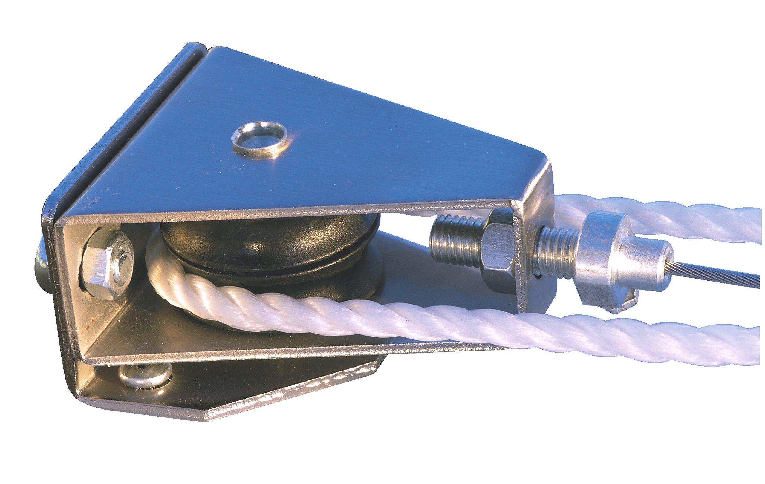 """Windhager Set de Montaje polipasto"""" Sistema de tracción por Cuerda Conjunto Completo para tensar y Mover toldos y marquesinas 10884, canoso: Amazon.es: Jardín"""