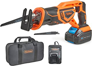 VonHaus Cordless Reciprocating Saw with 3.0Ah Li-ion 20V MAX Battery, Charger, 2 x Wood Blades & Power Tool Bag - Includes...