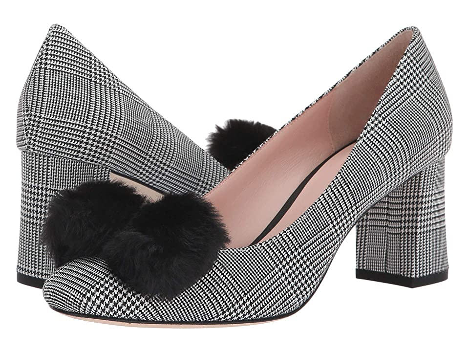 Kate Spade New York Carine (Black/White Houndstooth Wool) Women