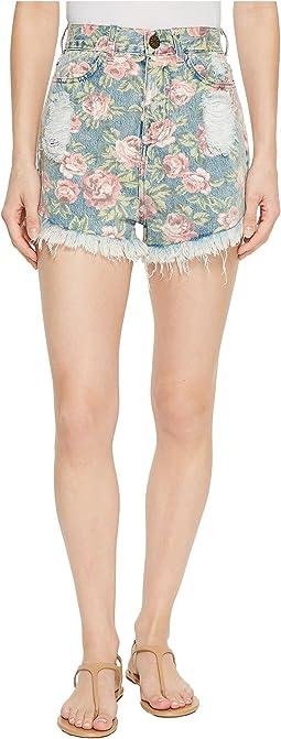 Show Me Your Mumu Toledo Tear Drop Shorts in Bella Rose
