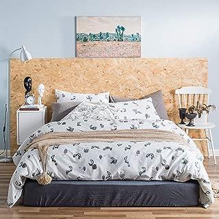 YuHeGuoJi 3 Pieces Duvet Cover Set 100% Cotton White Queen Size Cartoon Squirrel Pattern Bedding Set with Zipper Ties 1 Cute Animal Duvet Cover 2 Pillowcases Hotel Quality 2 Pillowcases Soft Durable