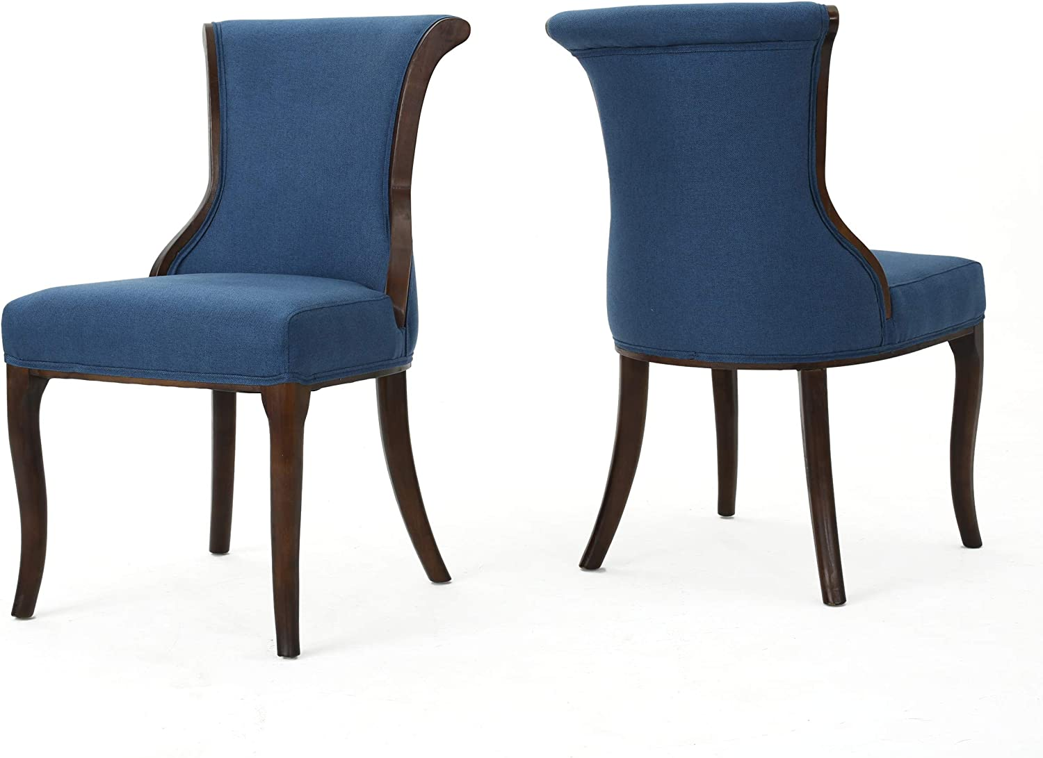 Christopher Knight Home Louisville-Jefferson County Mall Lexia Classic Dark Max 54% OFF Fabric Chair Dining