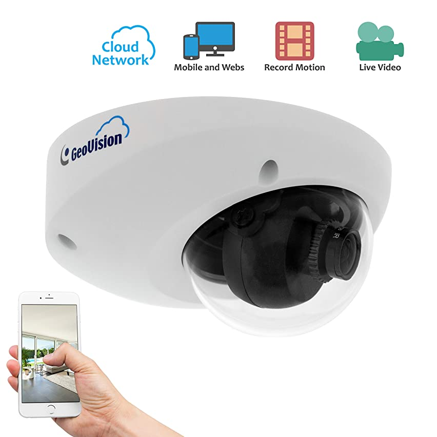 GeoVision GV-MFDC1501 720P Network Cloud Dome Security Camera with 8GB Memory Card