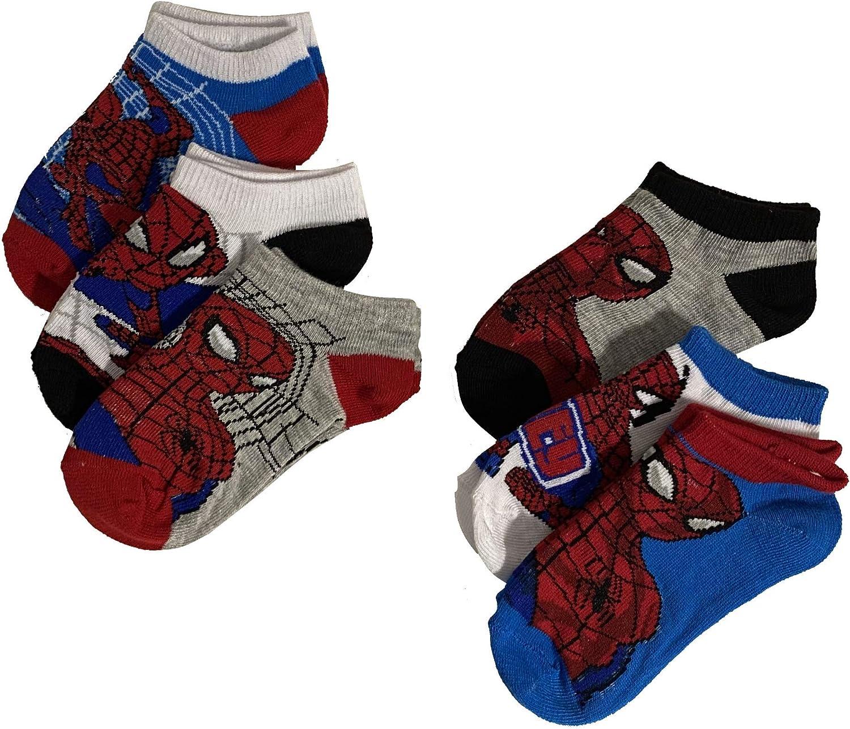 Marvel Spider-Man Athletic Socks, 6-Pack, Little Boys & Big Boys