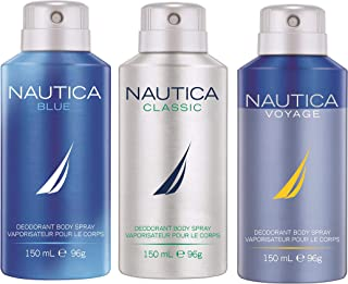 Nautica Deo Combo Set, Blue, Classic, Voyage, 150ml (Pack of 3)