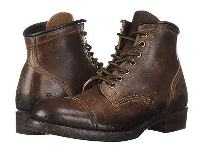 Frye Logan Cap Toe (Brown Waxed Veg Tan) Cowboy Boots