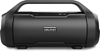 Dolphin LX-20 Dual Portable Bluetooth Waterproof Tube Speaker with HD Sound and Bass, High Power 30W, Includes FM Radio, U... photo
