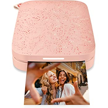 """HP Sprocket Portable 2x3"""" Instant Photo Printer (Blush Pink) Print Pictures on Zink Sticky-Backed Paper from your iOS & Android Device."""