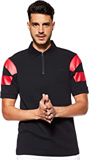 Fred Perry Mens Printed Slv Panel Pique T-Shirt