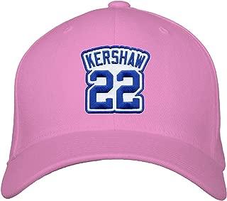 Clayton Kershaw Hat - Women's Los Angeles Baseball Jersey Number Cap (Pink)