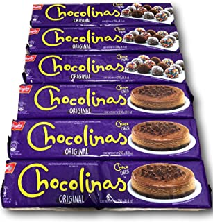 6-pack Chocolinas chocolate cookies 250 gr/8.8 oz.