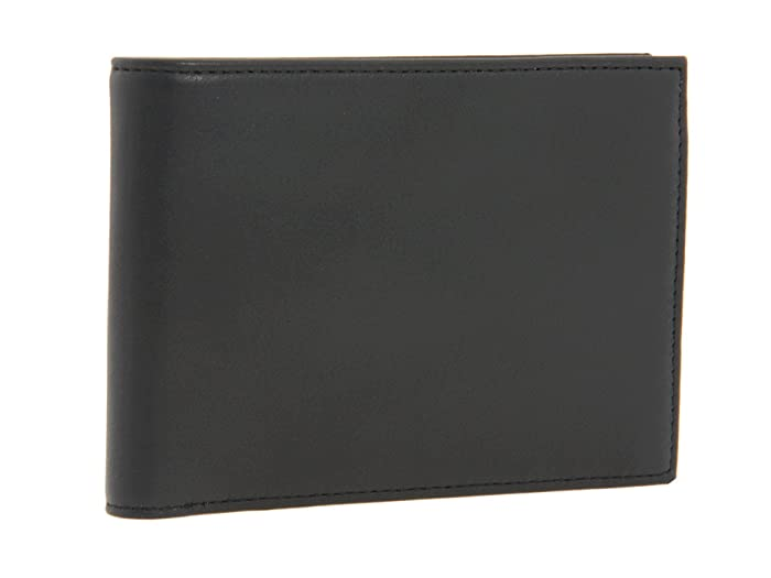 Bosca  Nappa Vitello Collection - Credit Wallet with ID Passcase (Black Leather) Bi-fold Wallet