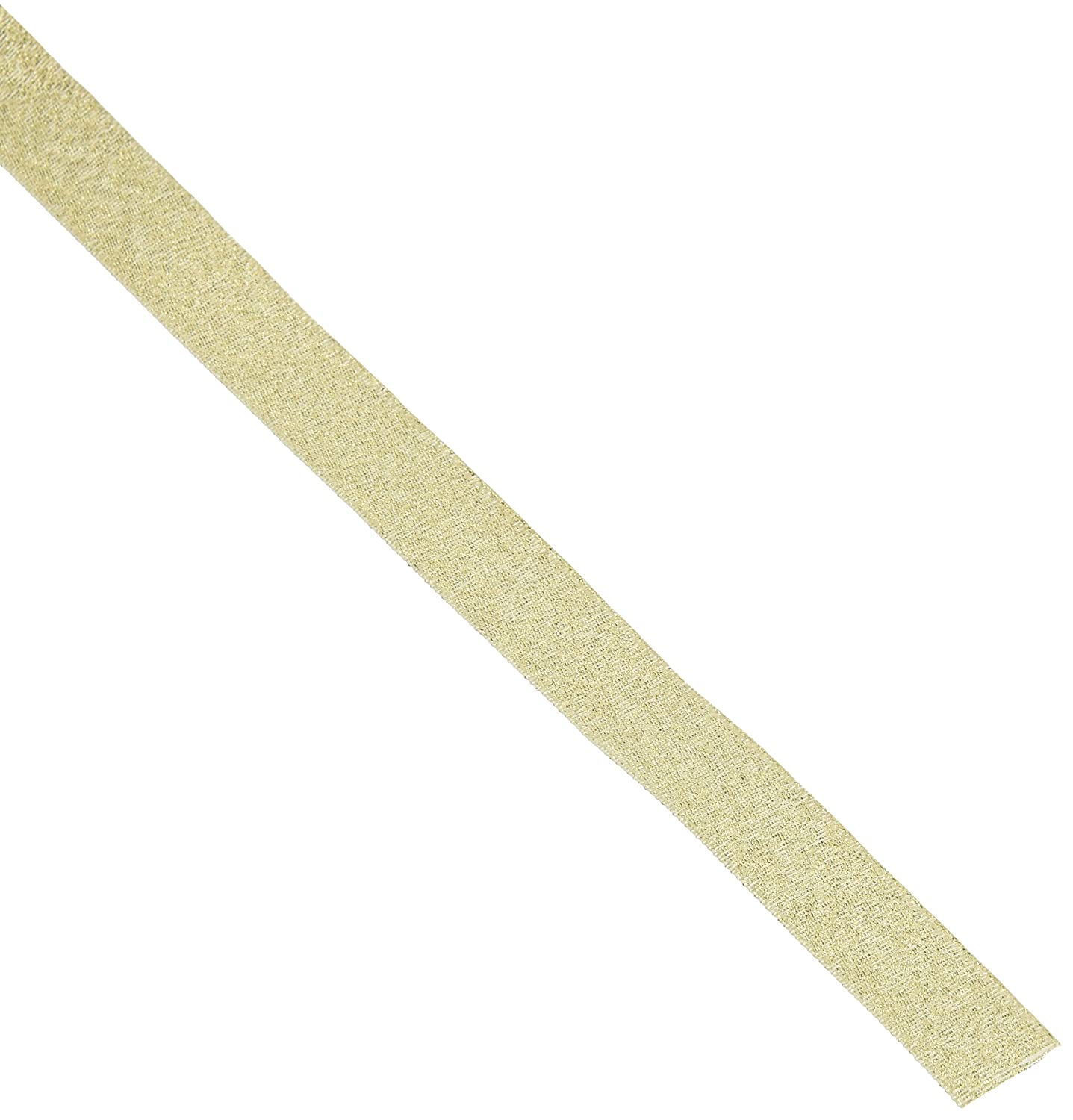 Offray 5/8-Inch Wide Luxe Ribbon, 10-Yard, Gold Dust