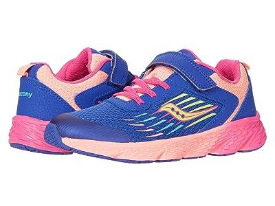 Saucony Kids S-Wind A/C (Little Kid/Big Kid) (Blue Multi) Girls Shoes