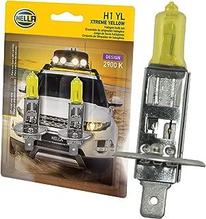 HELLA H1 Yellow-55W YL Xtreme Yellow Bulbs, 12V, 55W, 2 Pack