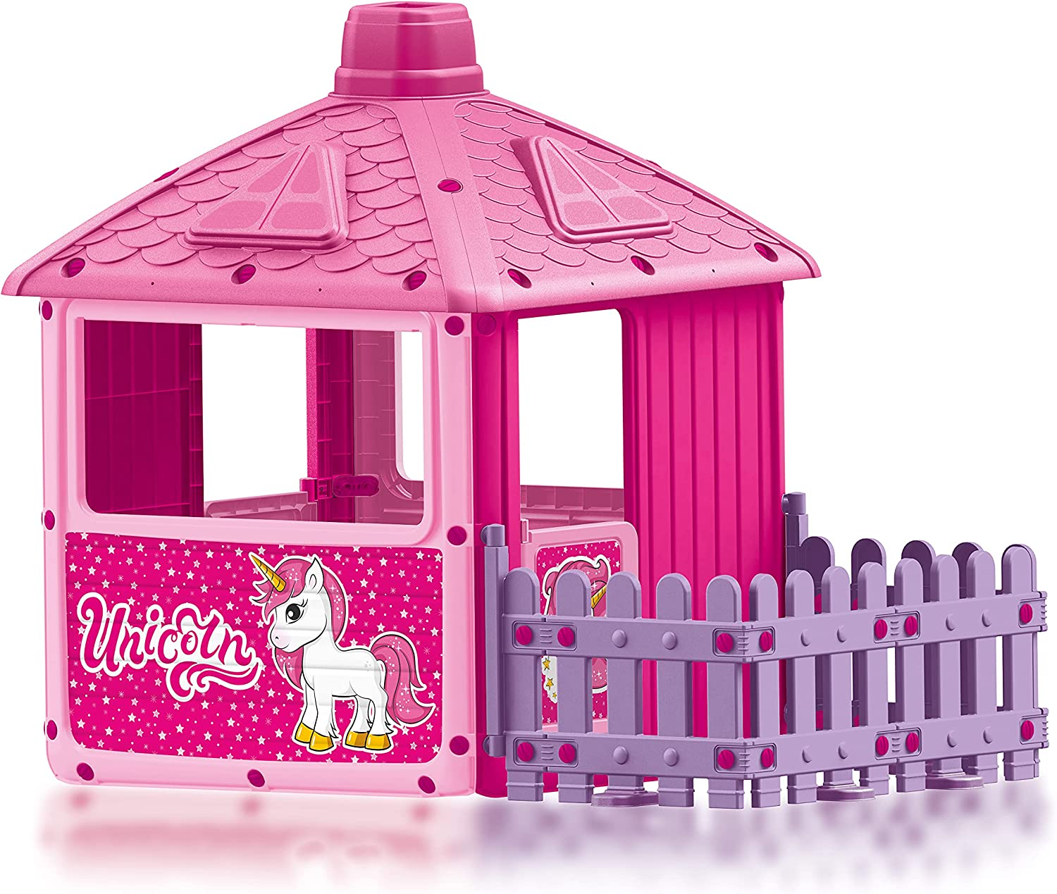 Dolu Toys - quality assurance Unicorn Play House Garden Ranking TOP16 Pink Fenced with