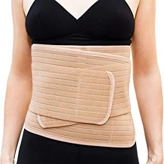 Emma + Ollie Postpartum Belly Wrap Belly Band Maternity Recovery Adjustable Abdominal Belt for Weight Loss and Postpartum - Sizes 2-12