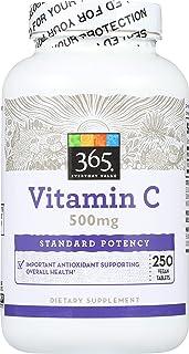 365 Everyday Value, Vitamin C 500mg, 250 ct