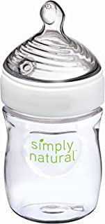 NUK Simply Nautral Baby Bottle, Clear,  5 Ounce (Pack of 1)