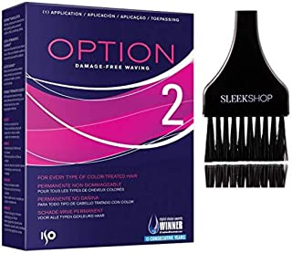 ISO OPTION Perm, Damage-Free Waving (with Sleek Tint Brush) Perming Hair Curls (OPTION 2 - VERSION #2)