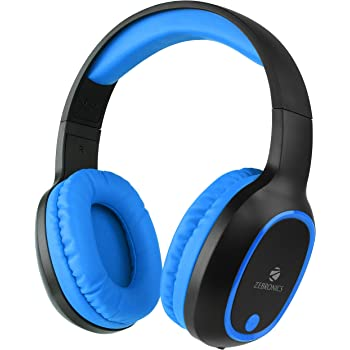 Zebronics Zeb-Thunder Wireless BT Headphone Comes with 40mm Drivers, AUX Connectivity, Built in FM, Call Function, 9Hrs* Playback time and Supports Micro SD Card (Blue)