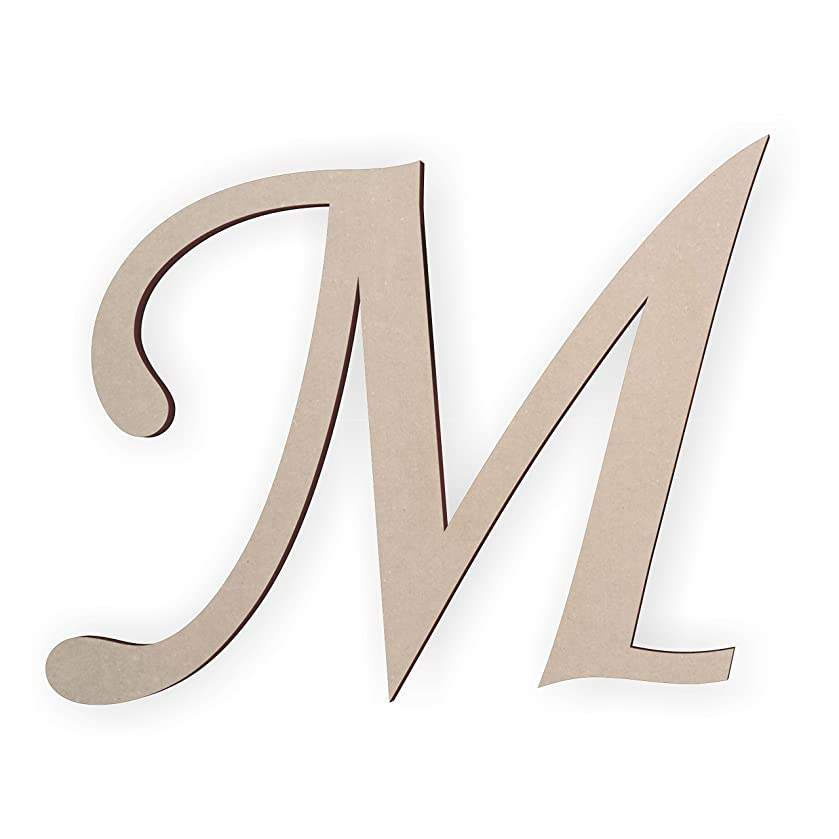 Wooden Monogram Letter M Unfinished and Ready to Paint