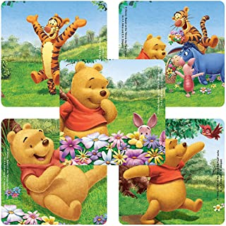 Disney Playful Winnie The Pooh Stickers - Party Favors - 100 Per Pack