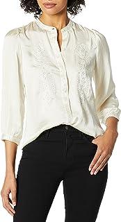 Lucky Brand Women's HAMMERED SATIN TOP Shirt