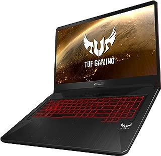 Asus TUF Gaming FX705GE-EV214T Gaming Laptop (Black) - Intel i7-8750H 4.1 GHz, 16 GB RAM, 1000 GB HDD+ 256GB SSD Hybrid, Nvidia Gforce GTX1050Ti, 17.3 inch IPS, Windows 10, Eng-Arb-KB